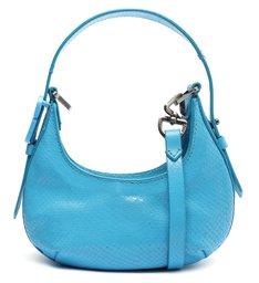 Bolsa Tiracolo Shoulder Bag Couro Azul