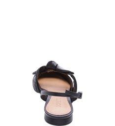 Flat Slingback Bow Black