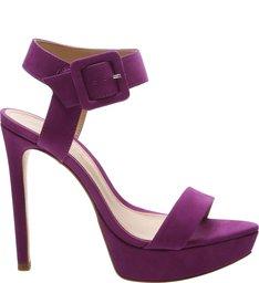 Sandália Salto Meia Pata Nobuck Lilac