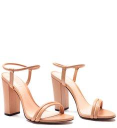 Sandália Salto Strings Peach