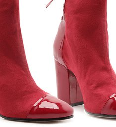 Bota Amarração Vinil Stretch Red
