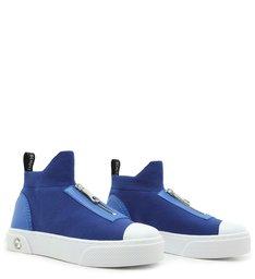 Tênis High Knit Zíper Blue