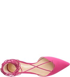 Sapatilha Bico Fino Lace Up True Pink