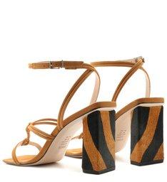 Sandália Strings Zebra Heel Caramel