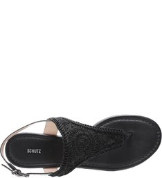 Flat Embroidery Black