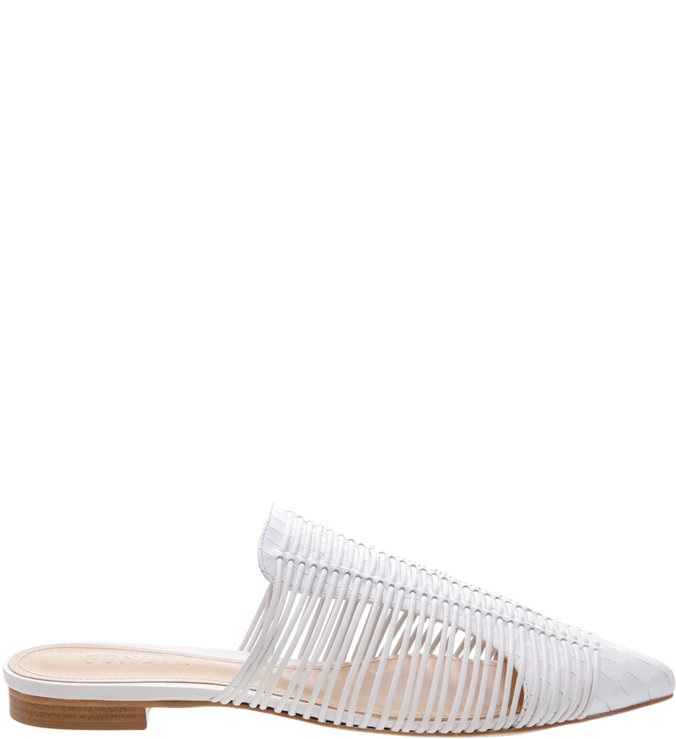 Flat Mule Natural Stripes White | Schutz