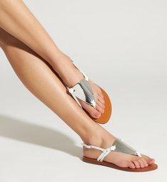 Sandália Rasteira New Minimal White