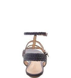 Sandália Gladiadora Trança Azul-Marinho