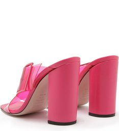 Mule Salto Bloco Vinil Full Color Pink