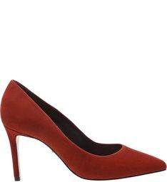 Scarpin Classic Nobuck Red