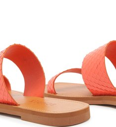 SLIDE TIRAS BRIGHT SNAKE FLAME ORANGE