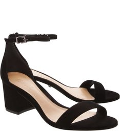 Sandália Minimal Block Heel Black