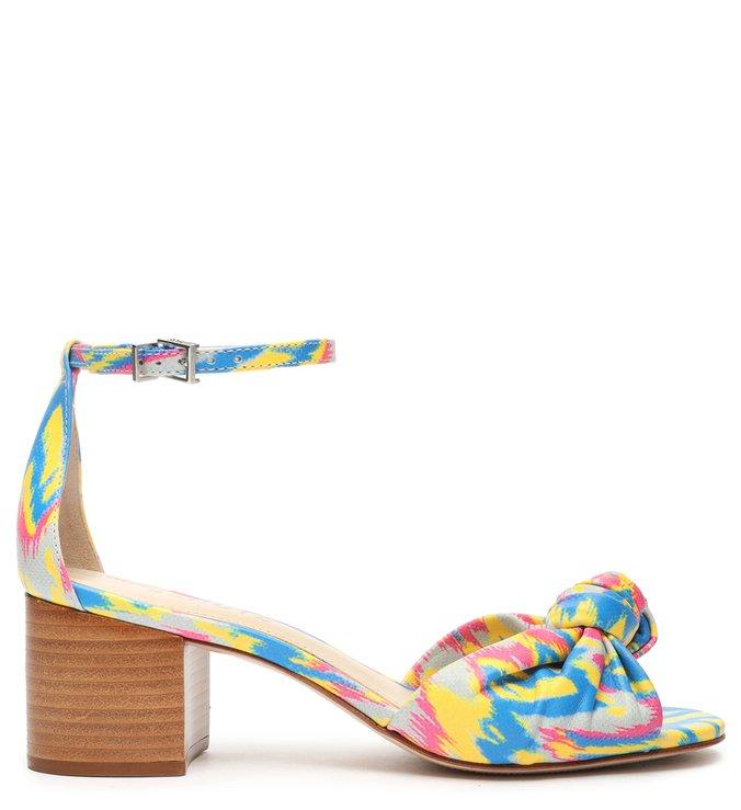 Sandália Block Heel Tropical Blue