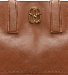 Shopping Bag Double Face Brown/Red