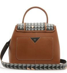 Handbag Triangle Mini Wallet Brown