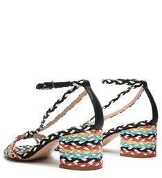 Sandália Block Heel Freshfull Braid Colors