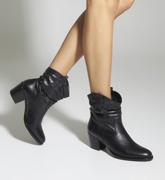 Bota New Western Slouchy Black