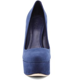 Scarpin Retrô  Diva High Dress Blue