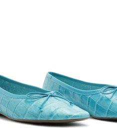 Sapatilha Ballerina Croco Blue