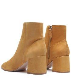 New Boot Evasê Nobuck Caramel