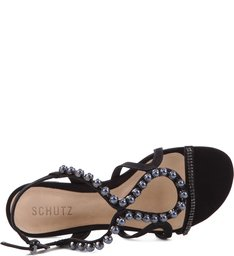 Flat Strip Strass Black