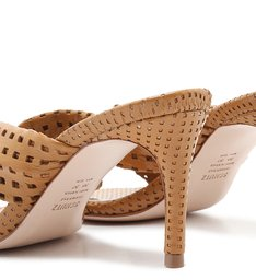 [On Demand] Sandália Mule Knot Textures Caramel