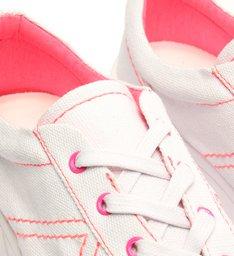 Tênis Mauli com Salto Branco e Rosa