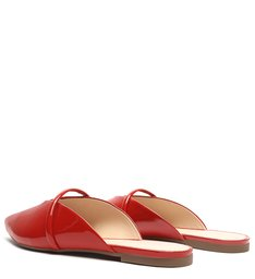 Flat Mule Croco Red