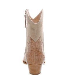 Cowboy Boot Multimaterial Croco Neutral