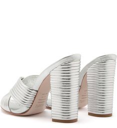 Sandália Mule Textures Prata