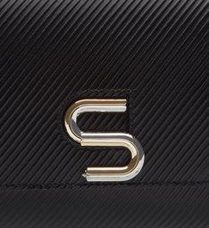The S Bag Couro Média Rib Black