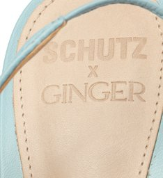 Schutz x Ginger Scarpin Lace-Up Blue
