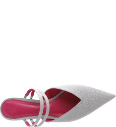 Mule Micro Heel Straps Prata