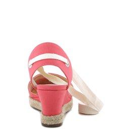 Espadrille Anabela Pink Flamingo