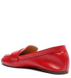 Sapato Mocassim Couro Vermelho