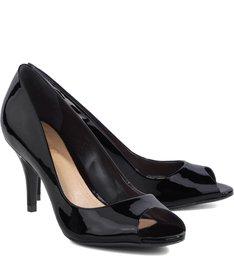 Peep Toe Girlie Verniz Black