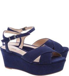 Flatform X Dress Blue