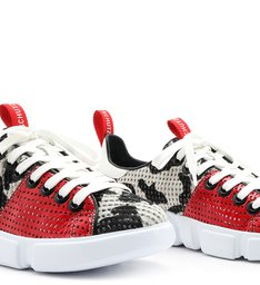 Sneaker New Athletic Zebra Red