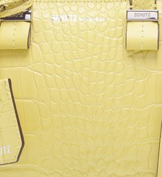 Mini Tote Nicole Croco Yellow