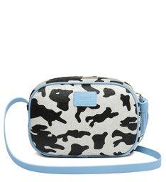Bolsa Tiracolo Pequena Kate Vaca Azul