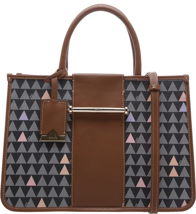 Handbag Lines Triangle Black