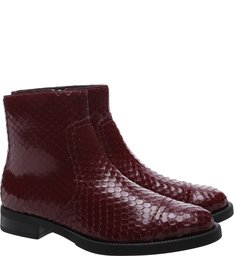 Flat Boot Bright Snake Brown