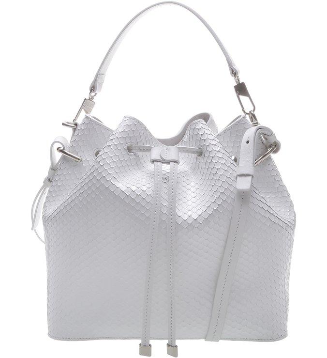 Bucket Bag Snake White
