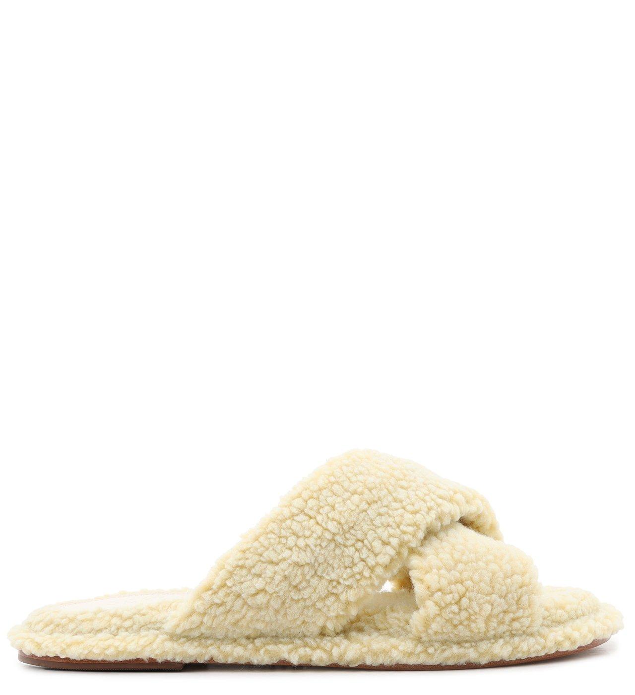 Homewear Flat Slide Lucy Alpaca Areia | Schutz
