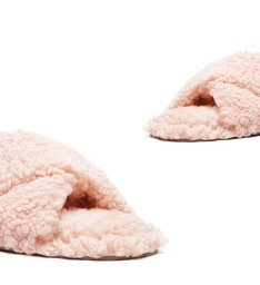 Homewear Flat Slide Lucy Alpaca Rose
