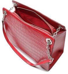 Shoulder Bag Merlin Croco Red