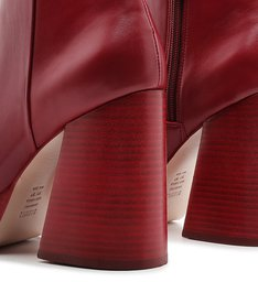 Platform Boot Skinny Red
