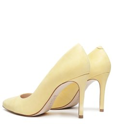 Scarpin Nobuck Yellow