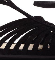 Flat Retro Nobuck Black