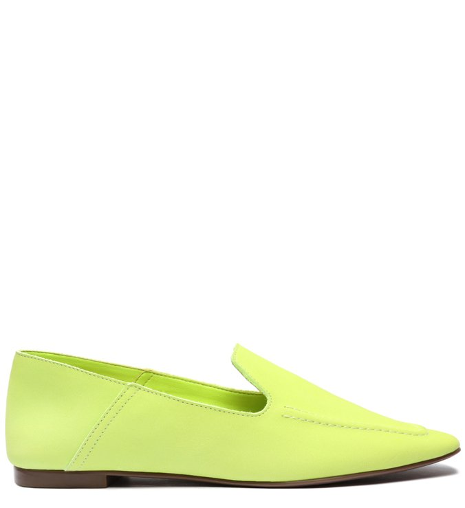 Sapato Mocassim Camurça Verde Neon